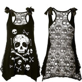 LACED SKULL TANK TOP