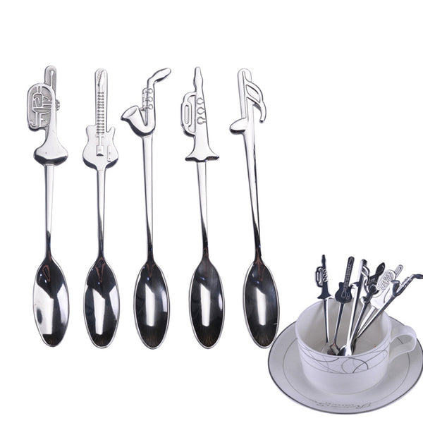 Stainless Steel Music Spoons (set of 7)