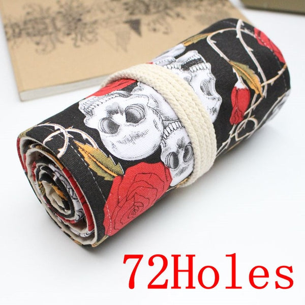 Roll Up Pencil Case - 36/48/72 Holes