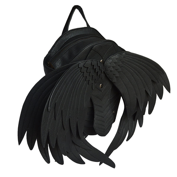 Black Angel Wings Backpack