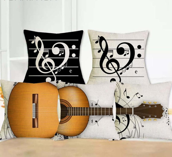 Guitar Decorative Cushion Covers