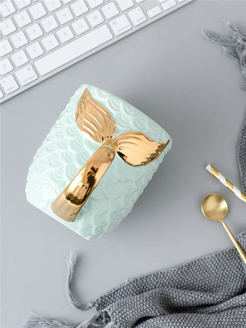 Mermaid Gold Tail Mug