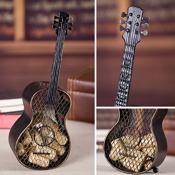 Guitar wine cork container