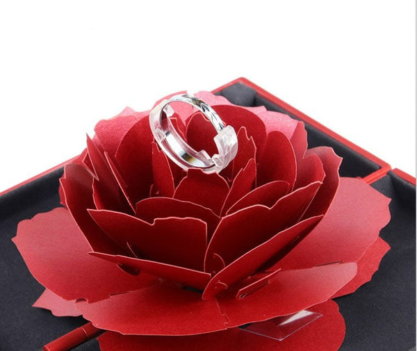 Pop-Up Blooming Flower Ring Case