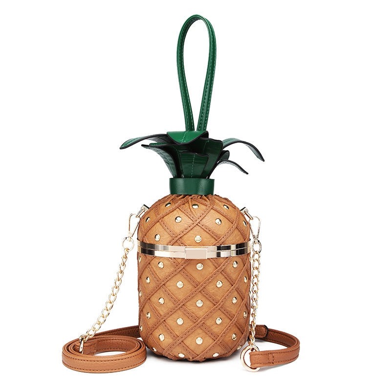 Pineapple PU Leather Handbag