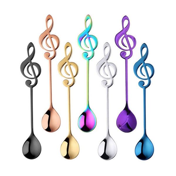 Stainless Steel Musical Note Coffee Spoons