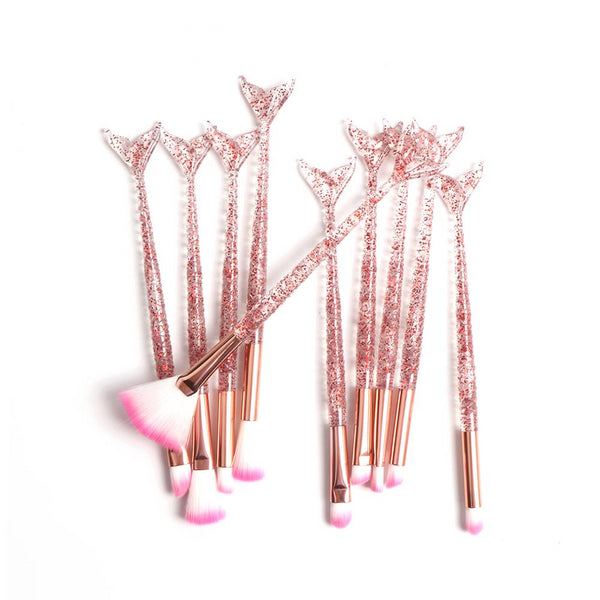 10pcs Mermaid Make Up Brush Set