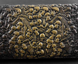 Genuine Leather Skull Wallet