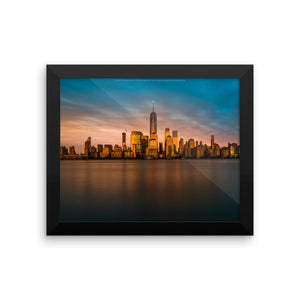 New York City, Financial District Framed Premium Image