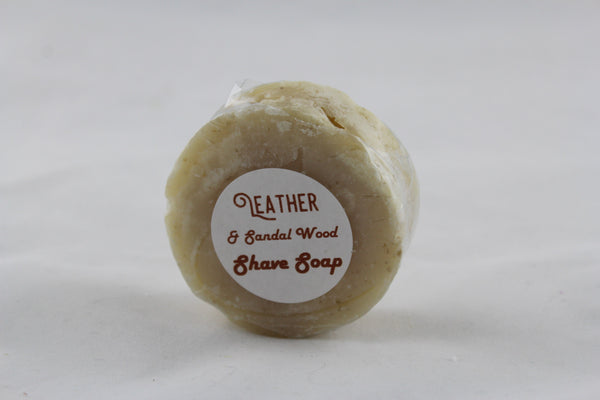 Leather & Sandalwood Shave Soap