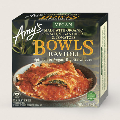 Amy's Vegan Spinach Ravioli Bowl