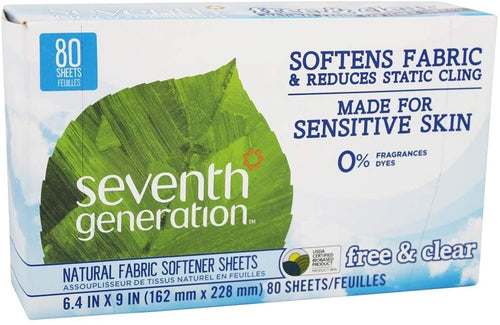 Seventh Generation -Free and Clear Fabric Softener Sheets