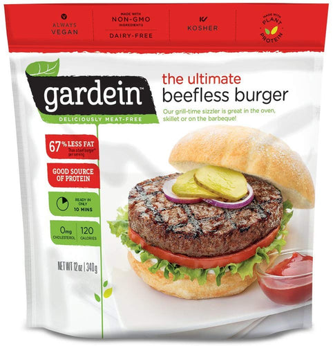 Gardein Ultimate Beefless Burger Meat Free Protein Packed Patties