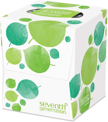 Seventh Generation Facial Tissue Cube, 2-ply, 1 box, 85 tissues