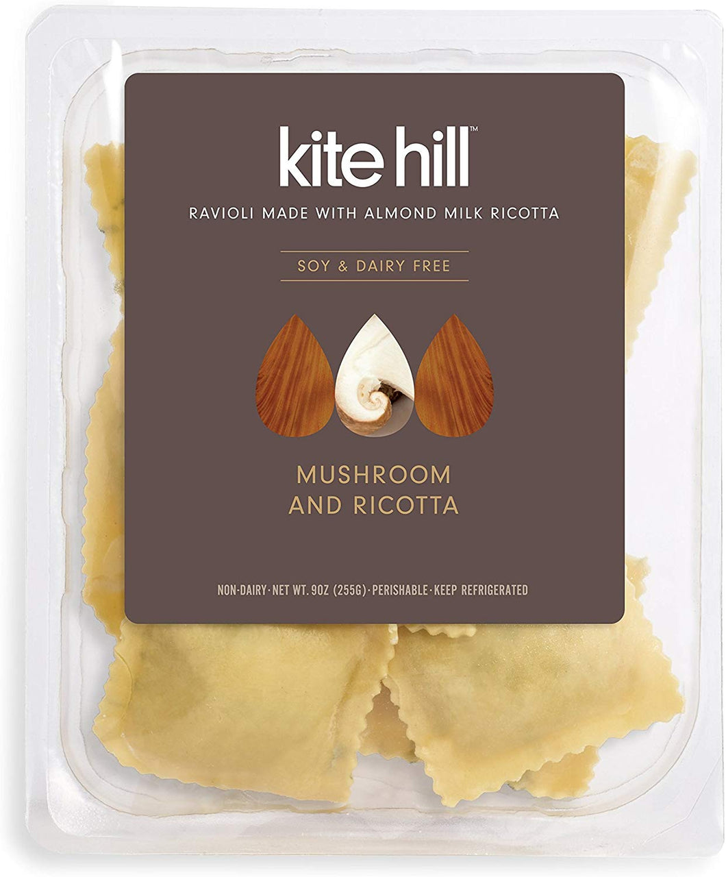 Kite Hill, Mushroom and Ricotta Ravioli (Dairy Free), 9 oz