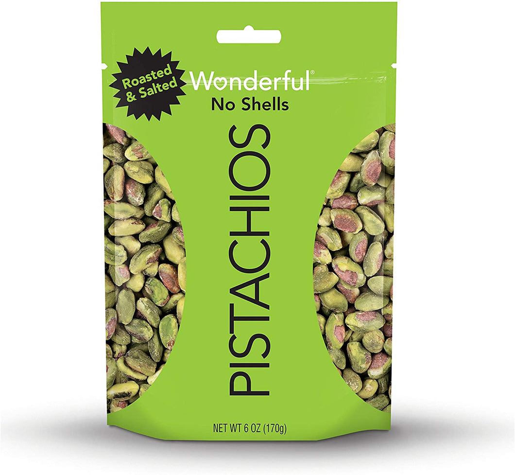 Wonderful Pistachios, No-Shell, Roasted and Salted 2.5oz