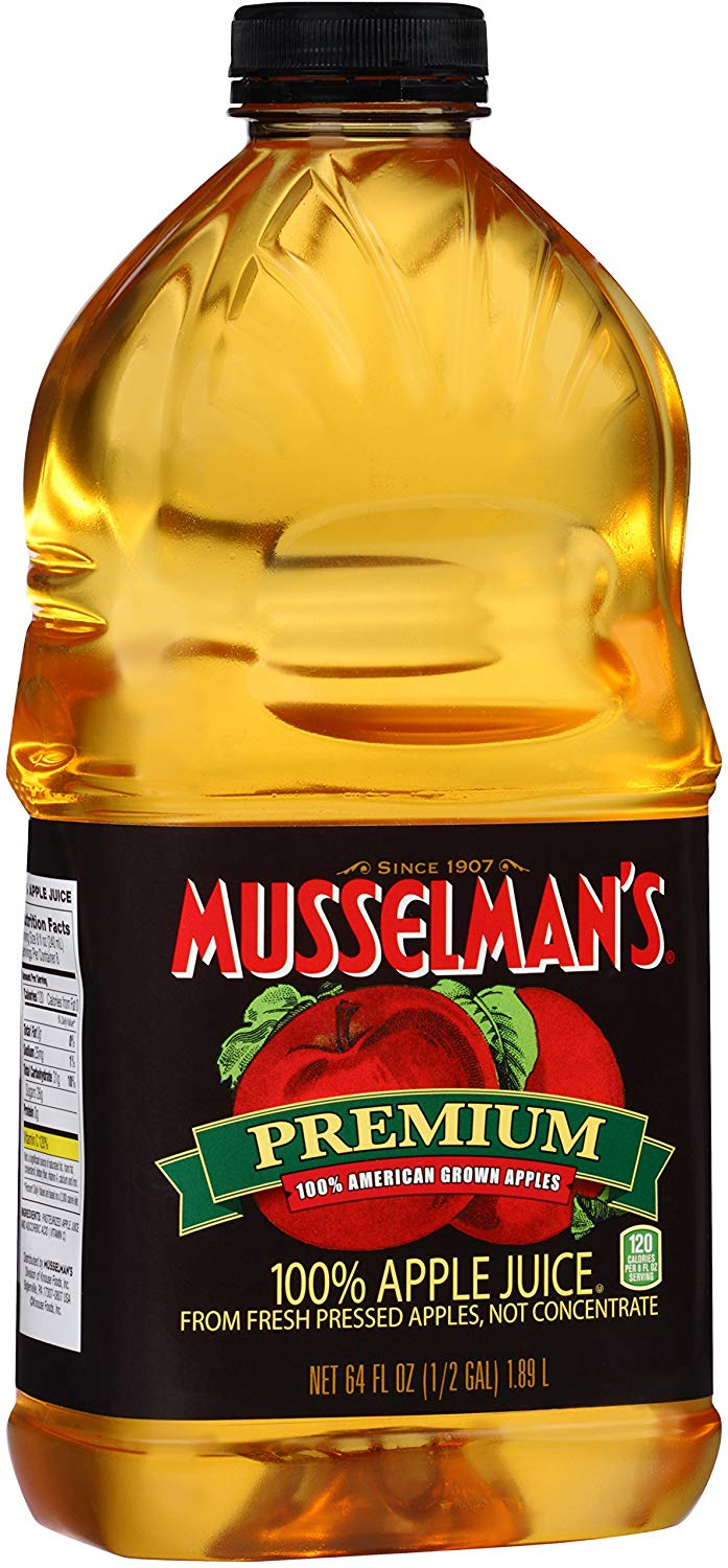 Musselman's Premium 100% Apple Juice, 64 Fluid Ounce