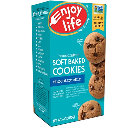 Enjoy Life Chewy Chocolate Chip Cookie, 6 Ounce
