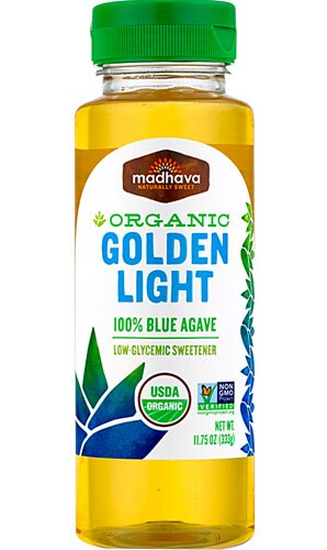 Madhava Organic 100% Blue Agave Golden Light -- 11.75 oz