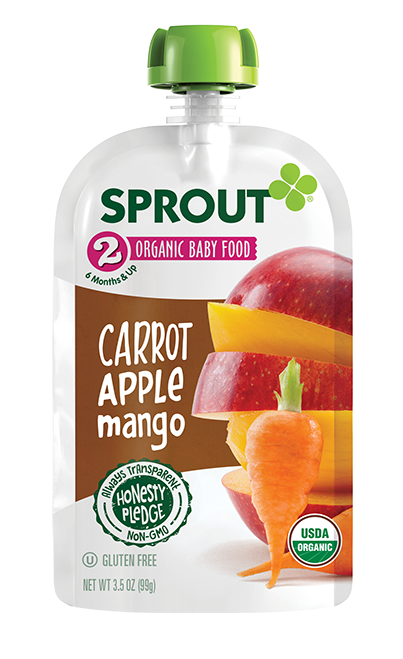 Sprout Organic Foods Organic Baby Food - Carrot Apple Mango Pouch
