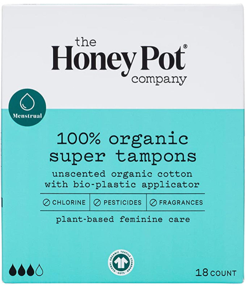 The honey pot company 100% organic super tampons