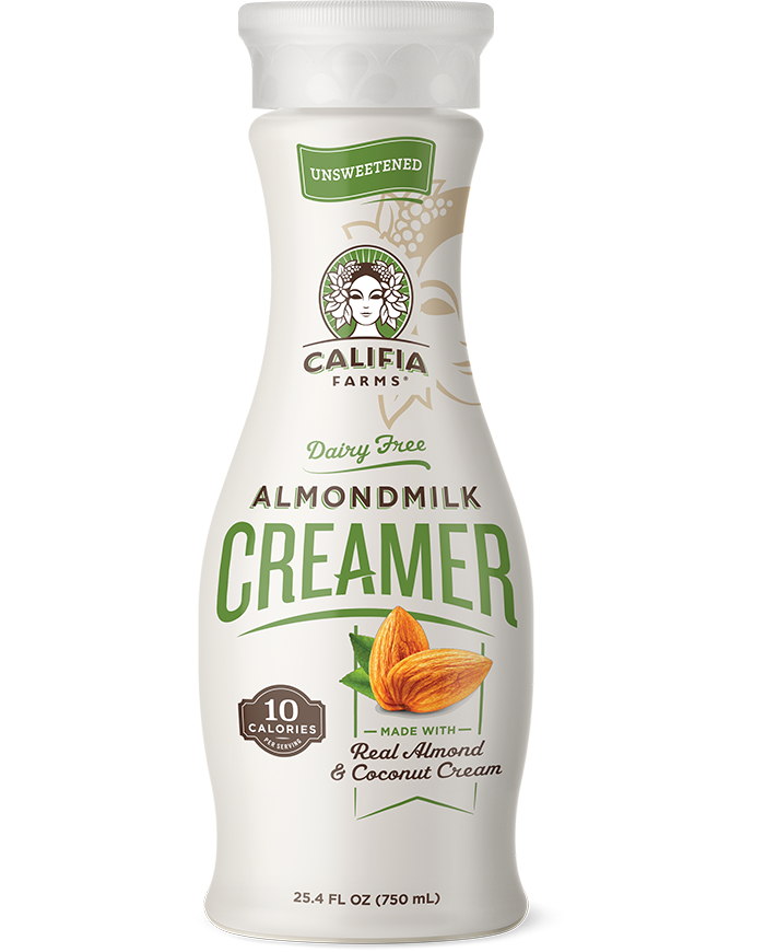 Califia unsweetened almond milk creamer made with real almond and coconut