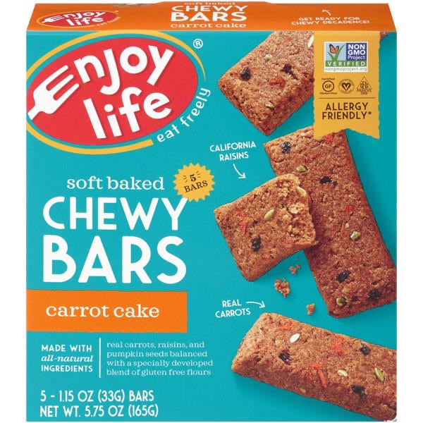 Enjoy Life Soft Baked Carrot Cake Chewy Bars 5-1.15 oz. Bars