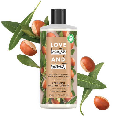 Love beauty and planet Shea Butter & Sandalwood Body Wash