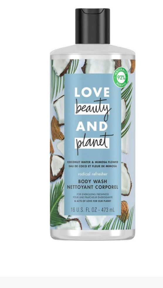 Beauty & planet coconut water a mimosa flower body wash