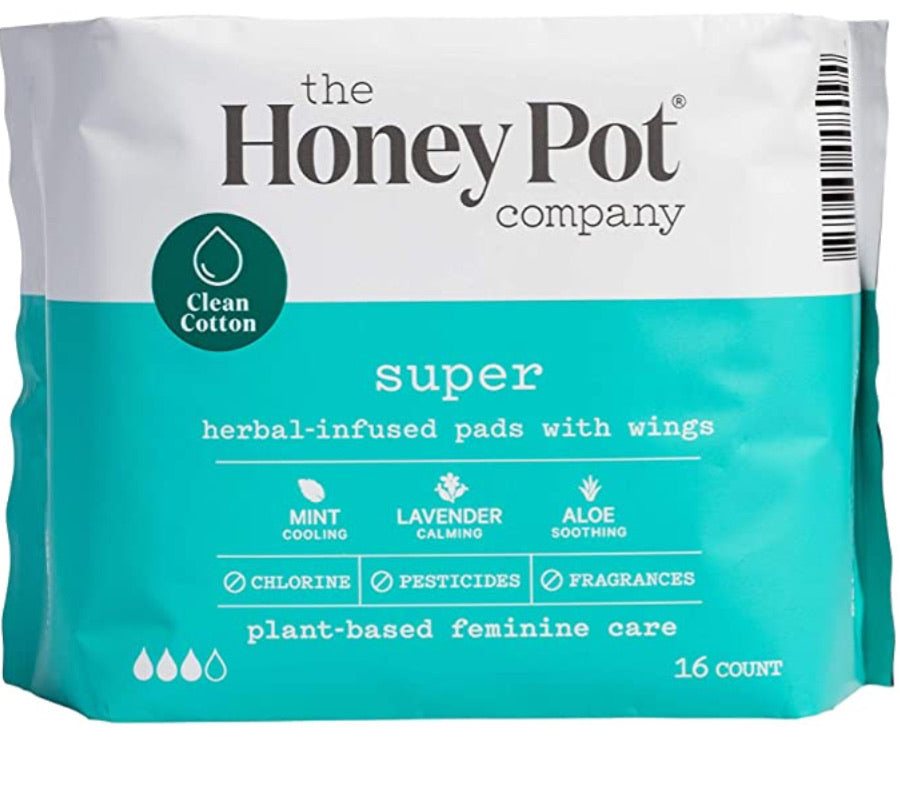 The honey pot company super herbal infused pads with wings