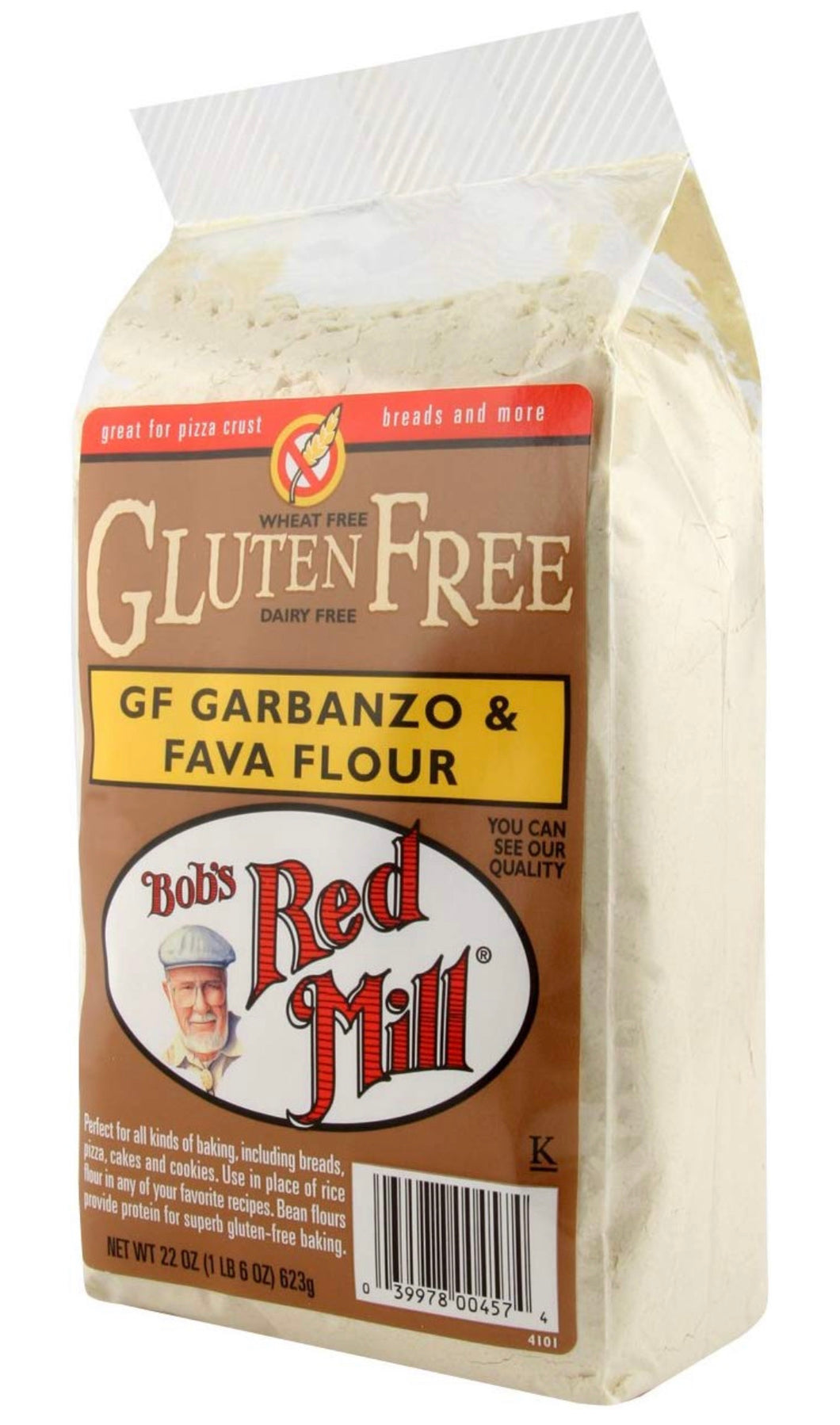 Bob's Red Mill Garbanzo Fava Flour, Gluten-Free, 22 Ounce