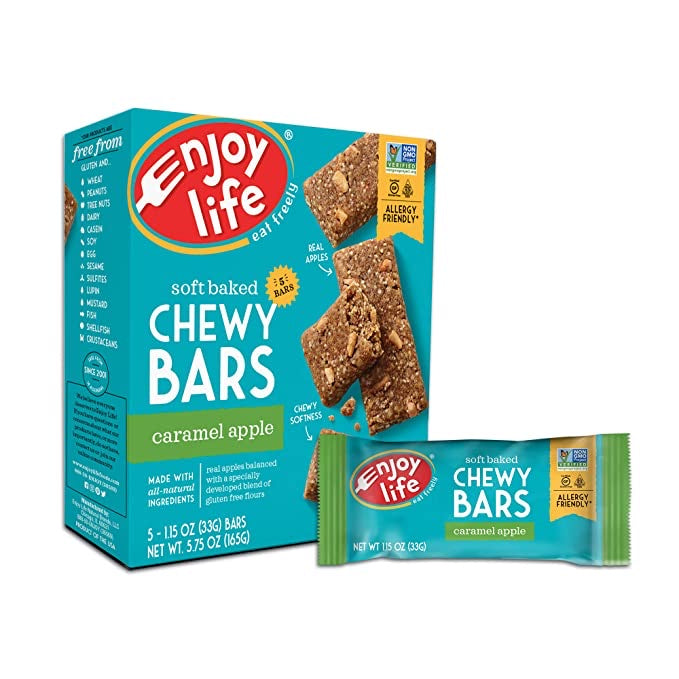 Enjoy Life soft baked Chewy Bars Caramel Apple