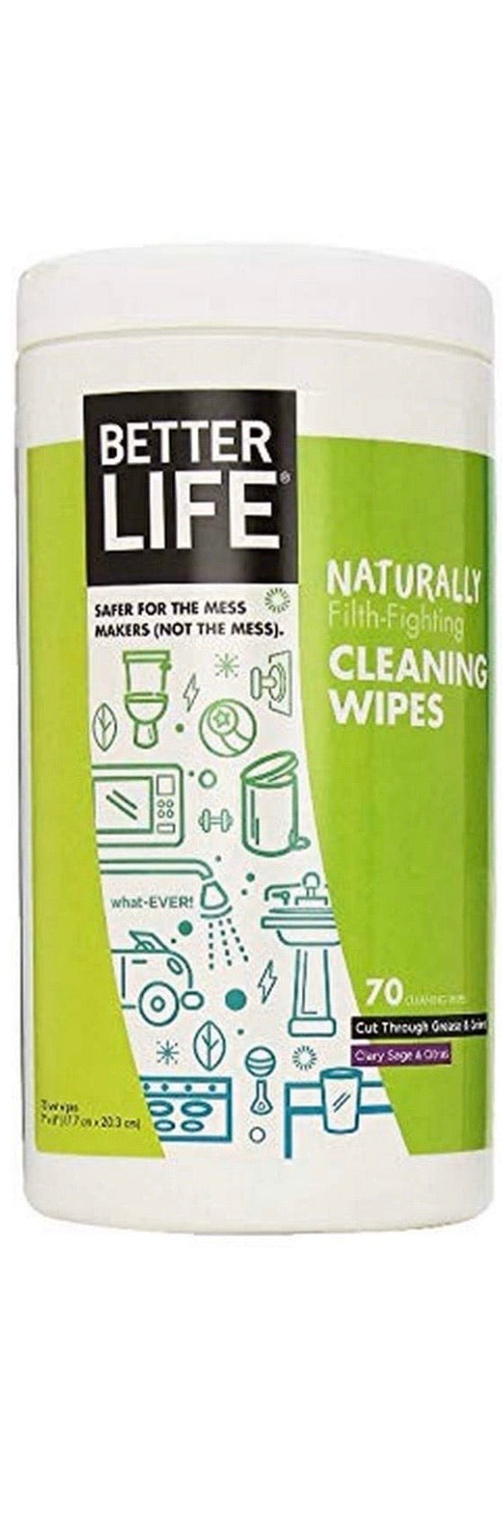 Better Life Naturally Cleaning Wipes Clary Sage and Citrus