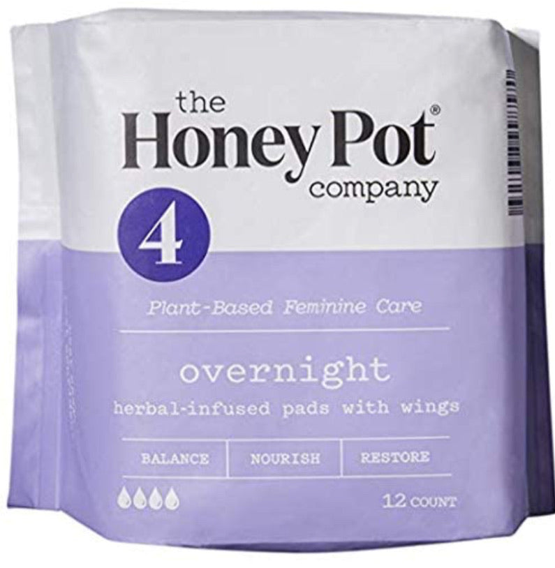 The honey pot company overnight herbal-infused pads with wings