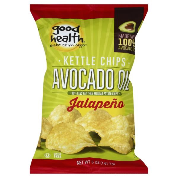 Good Health Chips Pot Avocado Oil, Jalapeno, 5 oz