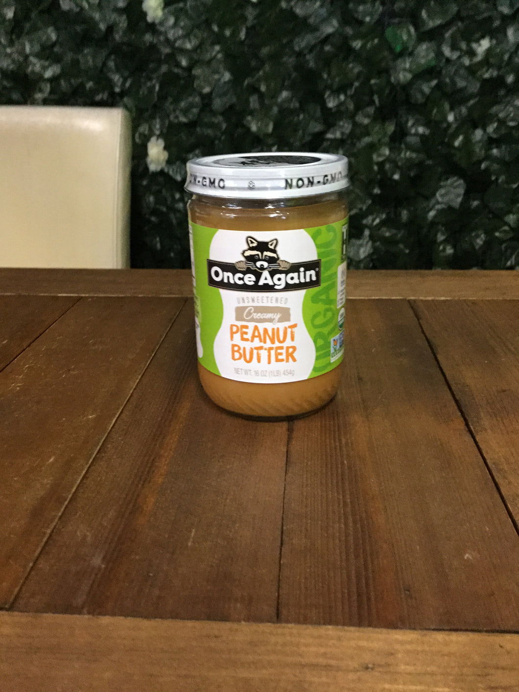 Once Again unsweetened creamy peanut butter 16 oz