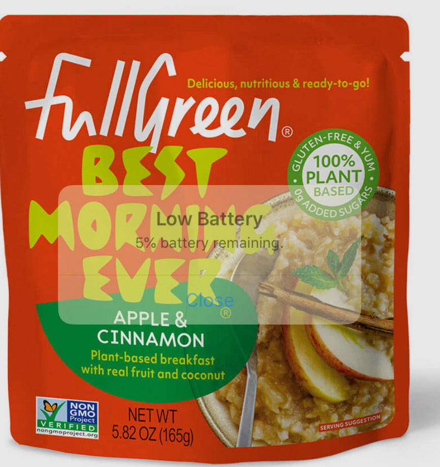 Fullgreen best morning ever apple & cinnamon breakfast