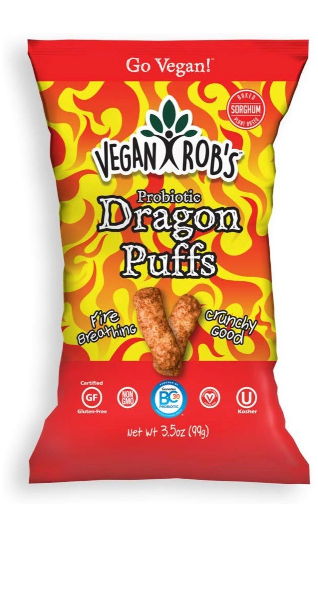 Vegan Rob's Puffs, Dragon | Made with Probiotics