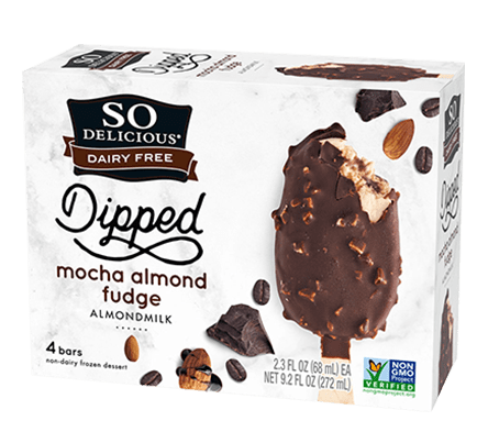 So Delicious Mocha Almond Fudge Almond Milk Ice Cream Bars