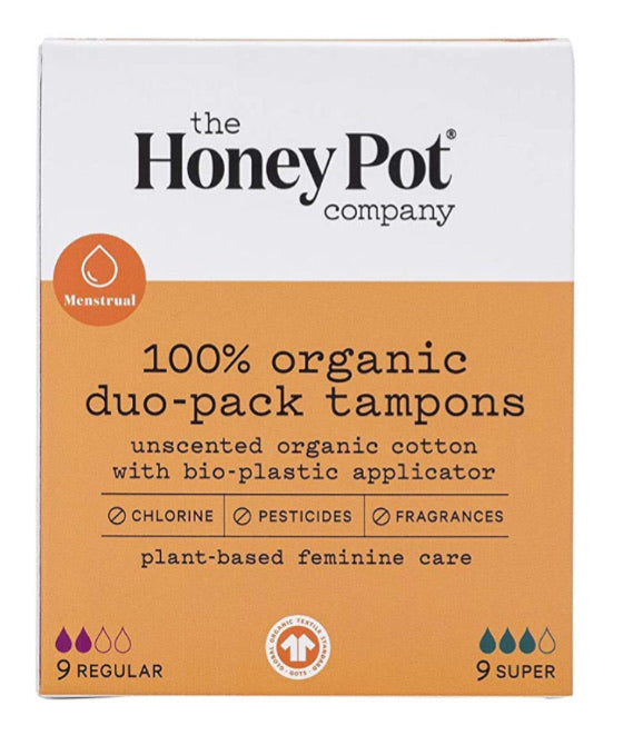 The honey pot company 100% organic duo- pack tampons