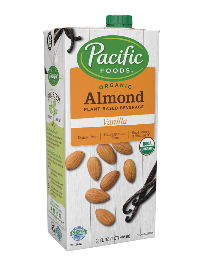 Pacific foods organic almond plant-based beverage vanilla