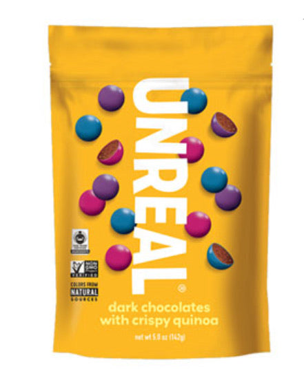 Unreal dark chocolates with crispy quinoa