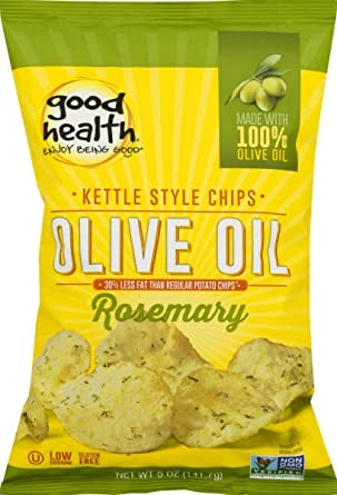 Good Health Kettle Style Olive Oil Potato Chips, Rosemary, 5-Ounce
