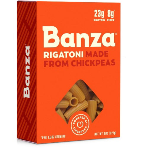 Banza rigatoni made from chickpeas