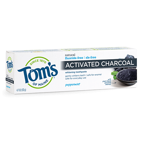 Tom's of Maine Activated Charcoal Toothpaste - Fluoride-Free in Peppermint