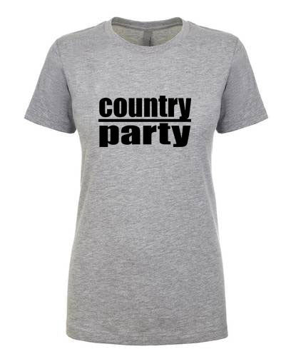 Country Over Party Crew Neck Tee