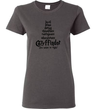Gryffindor House Traits Crew Neck Tee