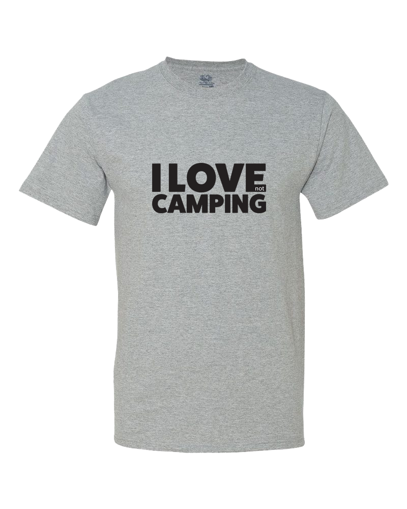 I Love NOT Camping Big Kid Shirt