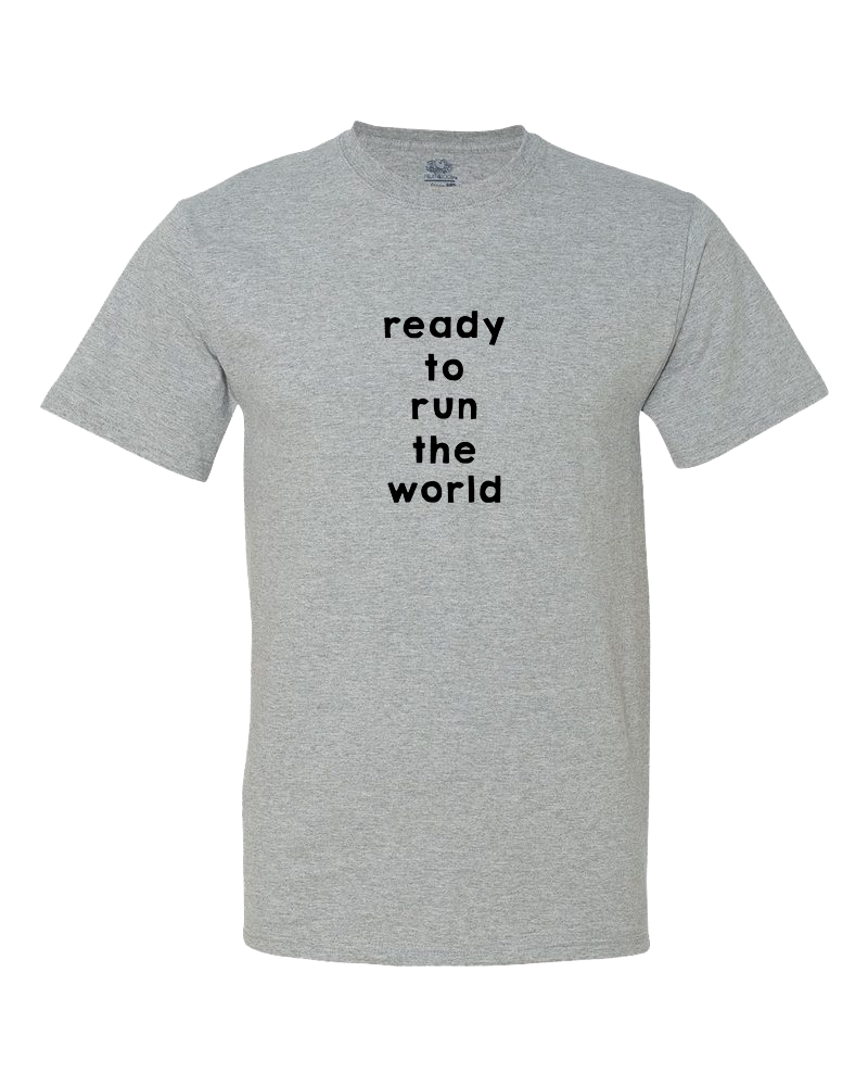 Ready to Run the World Little Kid Shirt
