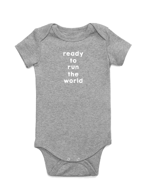 Ready to Run the World Onesie